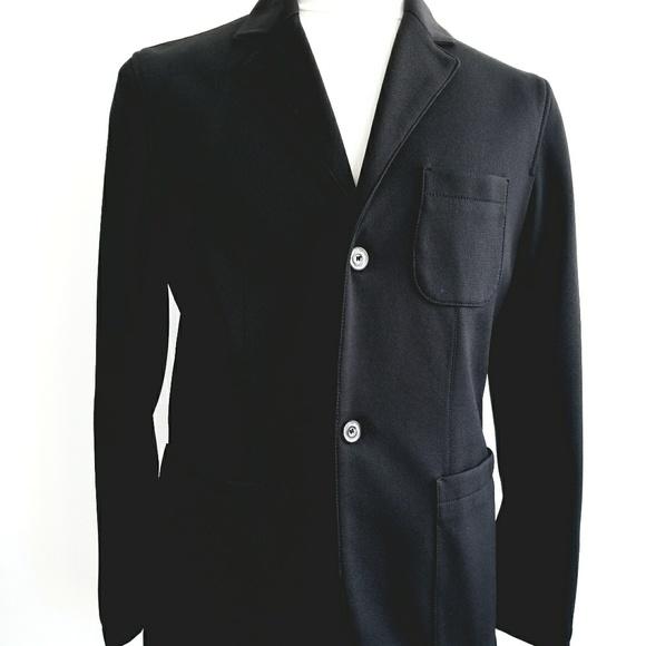 6987376c ZARA Men's Black Knit Blazer